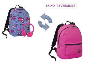 4b118c05d8 Caricamento dell'immagine in corso ZAINO-SCUOLA-SEVEN-BIMBA-REVERSIBILE -colore-VIOLA-SWALLOW-
