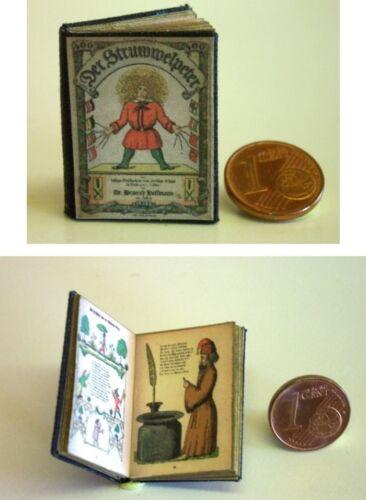 M 1zu12 Puppenhaus 1002# Miniaturbuch-Struwwelpeter Nostalgie Puppenstube