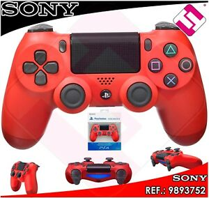 MANDO-PS4-DUALSHOCK-COLOR-ROJO-MAGMA-ORIGINAL-PLAYSTATION-4-SONY-RED-MAGMA