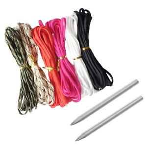 6pcs 5m Strong   Parachute Cord + 2pcs   Stitching Needle Kit