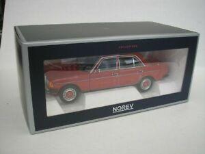 Norev 183714 MERCEDES BENZ W123 Diecast Modello Auto Rosso Segnale Ltd Edition 1:18th