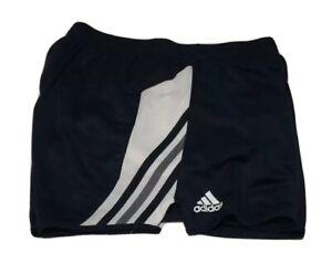 ADIDAS-Climalite-Women-s-Sz-M-Athletic-Running-Shorts-Blue-White-Gray