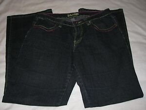 6-Peace-Love-Happiness-Ladies-Pants-Denim-Blue-Jeans-Rainbow-Embroidery-Retro-6