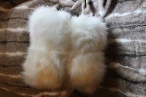 Pottery Barn Faux Fur Sun Bear Alpaca Throw Blanket 50 X