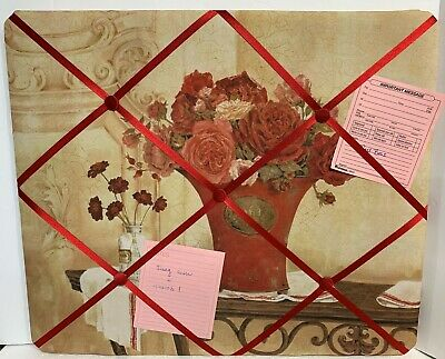 21 X18 Red Roses Memo Board Wall Decor Home Office Notes Memory Bedroom Photos Ebay