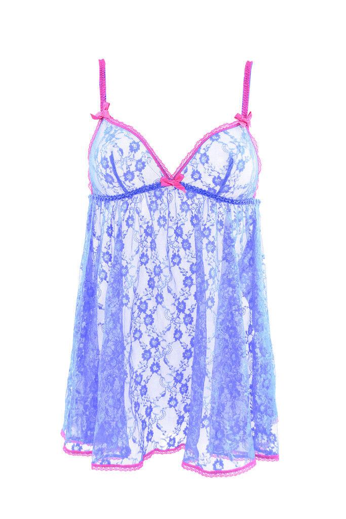 L'Agent By Agent Provocateur Women's New Floral Lace Slip bluee RRP  BCF88