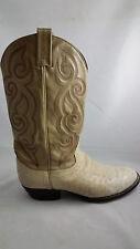 Tony Lama Ostrich Western Cowboy Boots Size 9.5 D 9 1/2 White Vintage