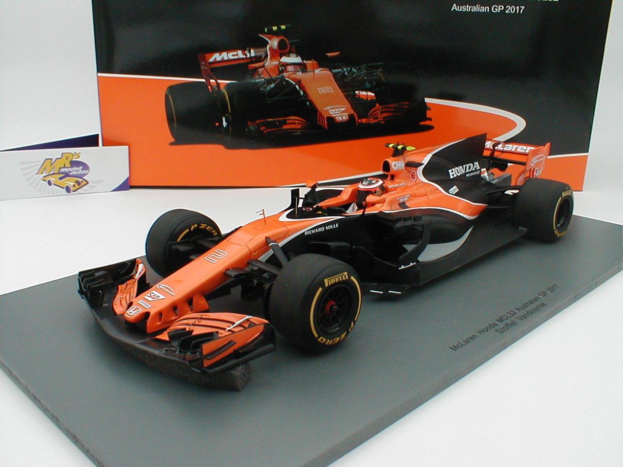 SPARK 18s307-McLaren Honda mcl32 Australia GP 2017  Stoffel Vandoorne  1 18