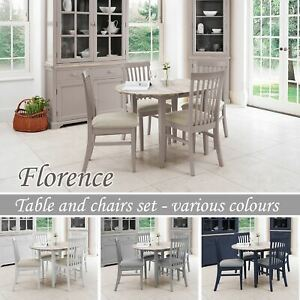 Florence Round Extending Dining Table 4 Chair Set Kitchen Dining Table Set Ebay