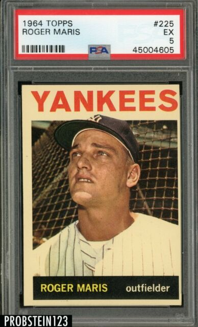 1964 Topps #225 Roger Maris New York Yankees PSA 5 EX