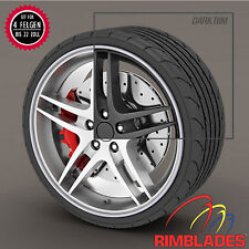 Rimblades FELGENSCHUTZ Styling SILBER Felgenringe Wheel Rim Protectors Rim Guard