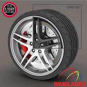 Rimblades-FELGENSCHUTZ-Styling-SILBER-Felgenringe-Wheel-Rim-Protectors-Rim-Guard
