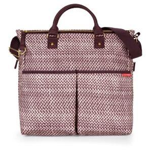 Skip Hop Duo Special Edition Diaper Bag, Plum Sketch 200308-CO