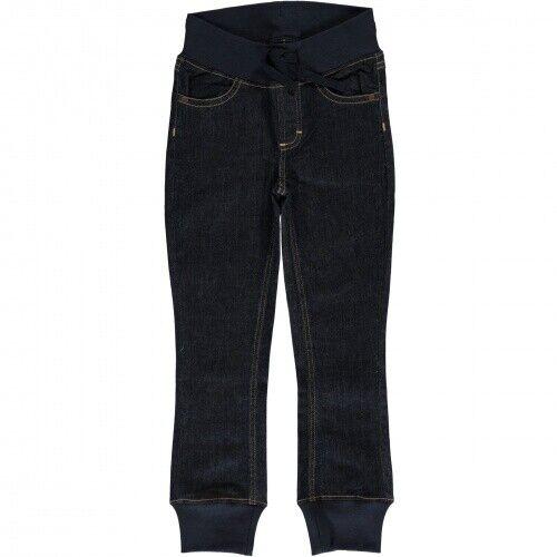 maxomorra Pants Rib Denim DARK BLUE WASHED Jeans Hose