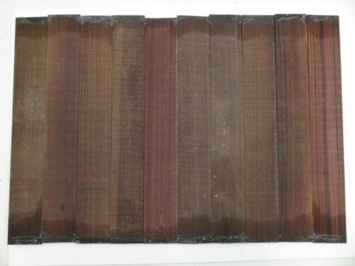 "Lot of 10 GUITAR LUTHIER ROSEWOOD FINGERBOARD BLANK  21/"" X 2-3//4/"" X 0.35"" 10"