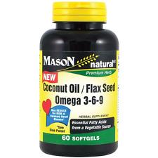 Mason Natural Coconut Oil / Flax Seed Omega 3-6-9 Softgels 60 ea