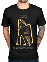 T Rex Electric Warrior Mens Black Cotton Top T-Shirt Tee New