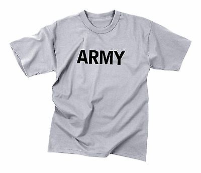 Rothco Army Military Physical Training Tank Top Gray Workout P//T 60085
