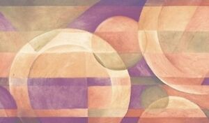 Wallpaper-Border-Modern-Circles-with-Purple-Beige-Green-Contemporary-Geometric