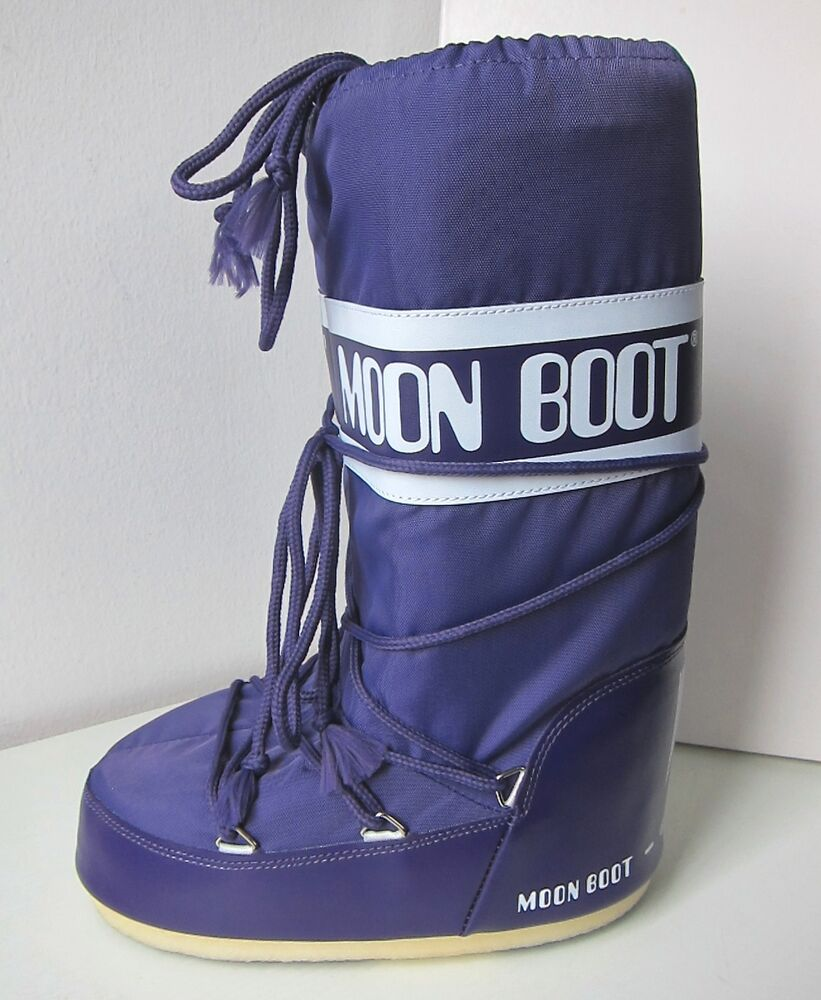 Tecnica Moon Boot Nylon Viola Violet T 45 - 47 Moon Boots Moonboots Violet Lilac