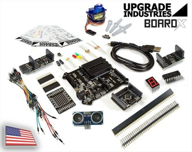 [21 pc] BoardX Starter Electronics and Robotics Kit - (Arduino Compatible)
