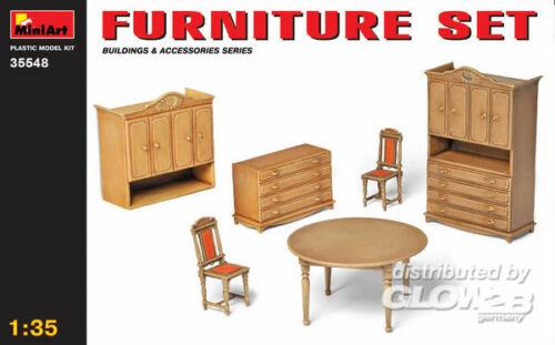 MiniArt 35548 Plastikmodellbau Zubehör Möbel Set