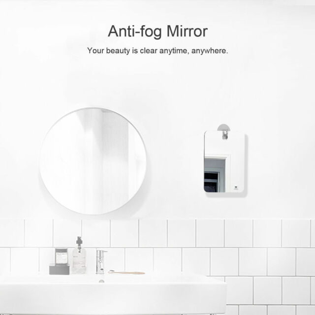 Fogless Mirror Bathroom Makeup Reflection Glass Shower Shaving Fog Free Mirror