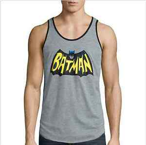 717023b3cbd05 Batman Tank Top Classic Logo Heather Gray Licensed DC Comics Men s ...