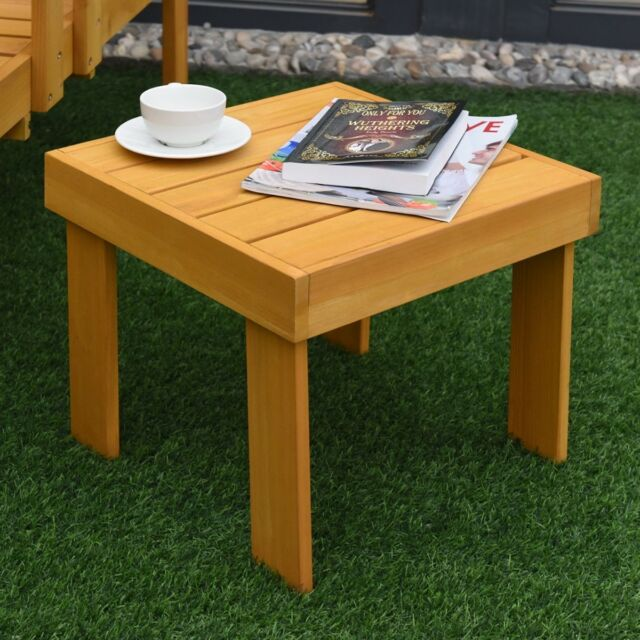 Phenomenal Square Wooden End Side Table Chair Stool Ottoman Outdoor Patio Garden Furniture Unemploymentrelief Wooden Chair Designs For Living Room Unemploymentrelieforg