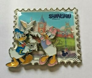 Disney-Pin-Badge-SDR-Shanghai-City-Donald-amp-Daisy
