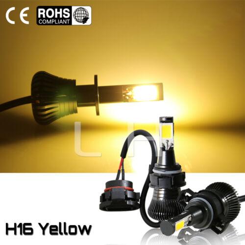 New 5202 H16 LED Fog Light Bulbs for 2007-2015 Chevy Silverado 1500 Yellow 160W