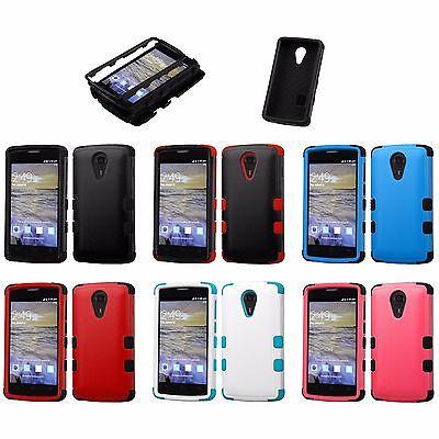 2Ly Tuff Protector Cover Case ZTE Virgin Assurance QLink N817 Quest Legacy  Uhura | eBay