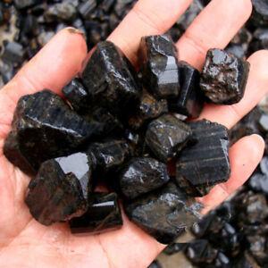 50g-Natural-Black-Tourmaline-Crystal-Rough-Rock-Mineral-Specimen-Healing-Stone