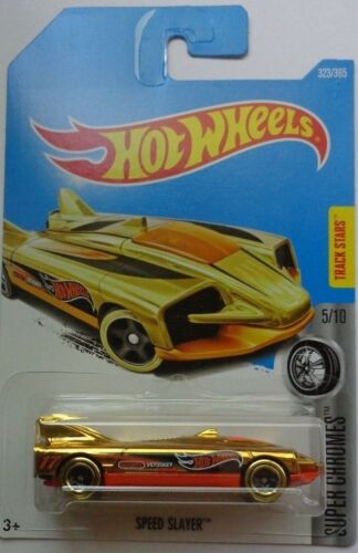 2017 Hot Wheels SUPER CHROMES 5/10 Speed Slayer 323/365 (Int. Card)