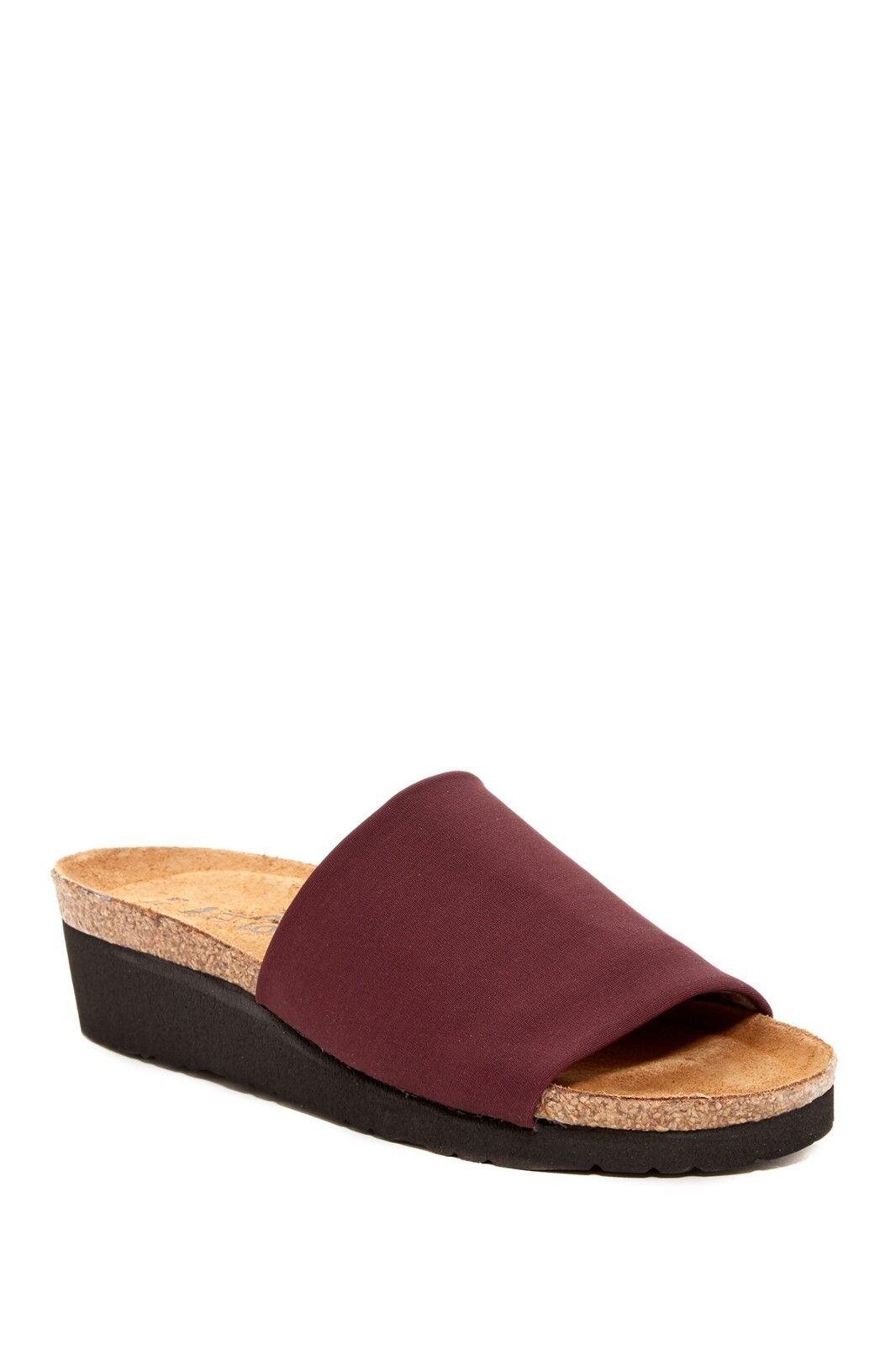 Naot ALANA Slide Sandal NIB SlipOn Mule ORTHOTIC Wedge PLUM STRETCH 37  41 42