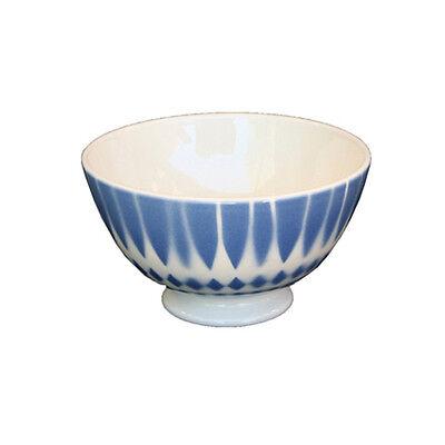 Milchkaffeeschale Schüssel Bol Lunéville Keramik Vogel blau Frankreich 0,4l