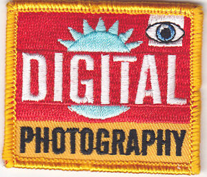 """""""DIGITAL PHOTOGRAPHY"""" PATCH - Iron On Embroidered Patch -Professions, Hobby"""