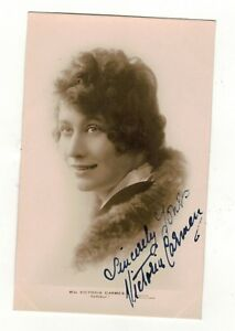 MISS-VICTORIA-CARMEN-AUTOGRAPHED-SIGNED-OLD-REAL-PHOTO-POSTCARD