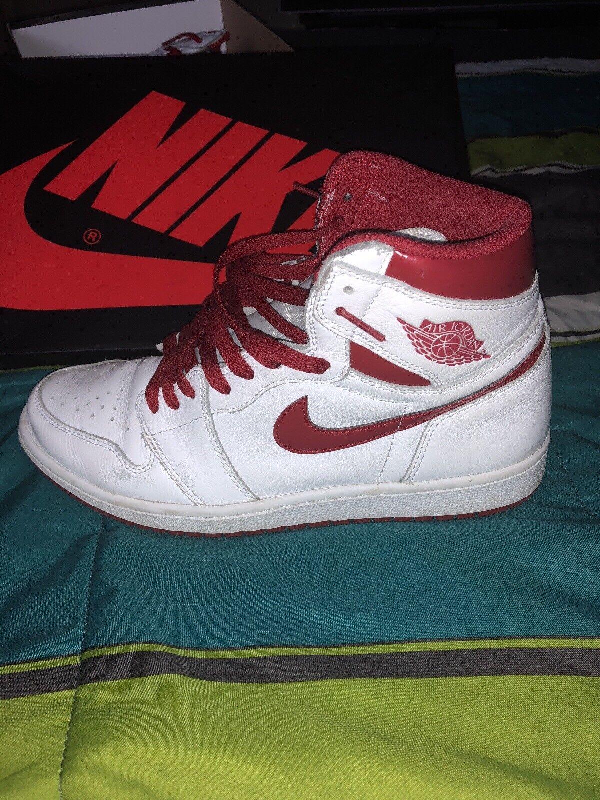 Air metalico Jordan 1 retro High og tamaño I Rojo metalico Air talla 11 3df97c