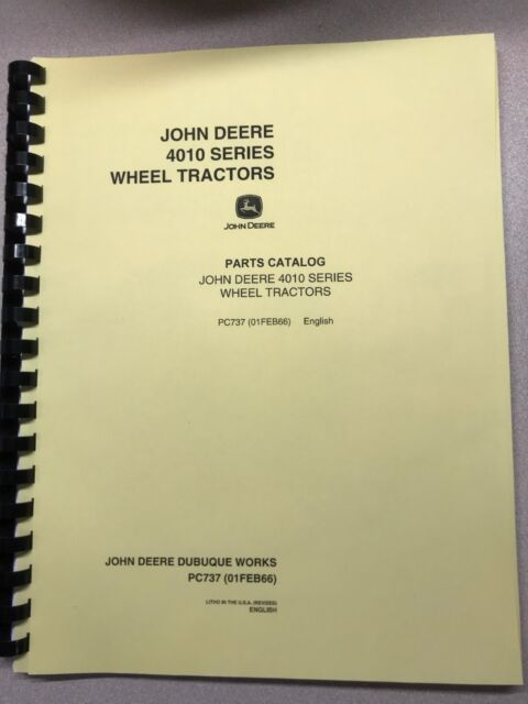 John Deere 4020 Parts Diagram   Parts Manual 4010 John Deere 4010 4010 Pc737 Ebay