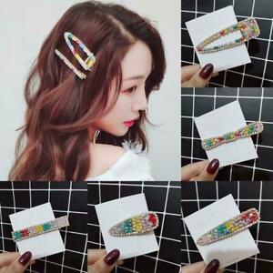 Kristallperlen-Haarspange-Regenbogenfarben-Haarspange-Neu-Schoene-Haarnadel-V6T1