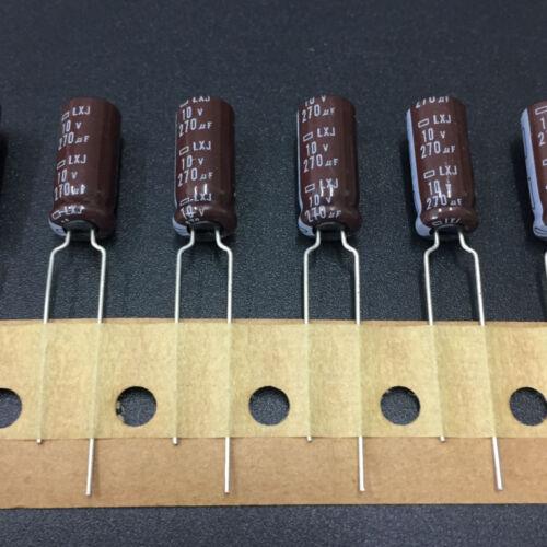 10pcs 270uF 10V NCC Nippon LXJ 6.3x15mm 10V270uF Low impedance Capacitor