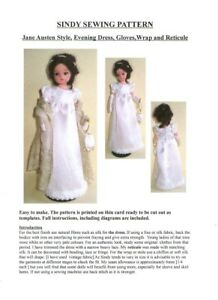 Sindy-Sewing-Pattern-Jane-Austen-Style-Evening-dress-Gloves-Wrap-and-Reticule