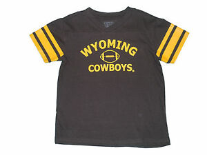 e533fcd46 Image is loading WYOMING-COWBOYS-YOUTH-BROWN-FOOTBALL-JERSEY-STYLE-T-