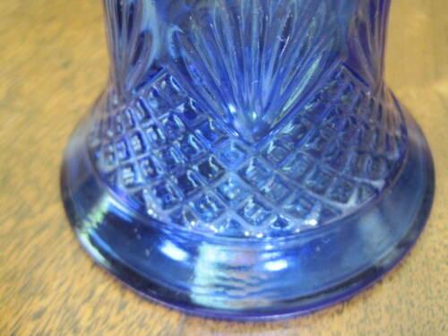 "VINTAGE AVON 1976 COBALT BLUE GLASS BELL-PINEAPPLE TOP /""ROSES/"" COLOGNE DECANTER"