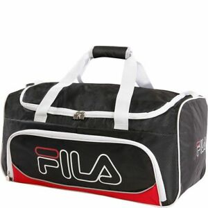 FILA Baywood Sports Duffel GYM Bag MEDIUM Travel Red BLACK 22