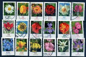 ++ Alemania / Germany sellos usados lote 06  flores
