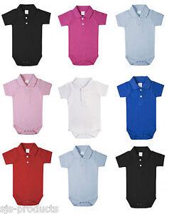 518d9f38 100% Cotton BABY BOY/GIRL Babygrow Vest Grow Bodysuit Polo Shirt ...
