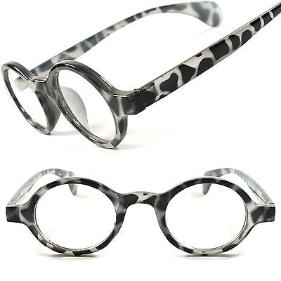 Tortoise Classic Vintage Retro Hipster Clear Lens Round Eye Glasses Frames E34