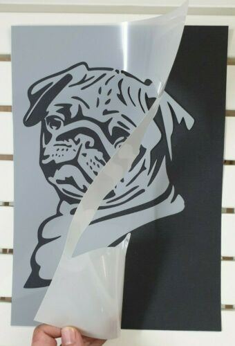 Cute Bulldog Puppy Stencil MYLAR A4 sheet strong reusable Art Wall Craft Deco